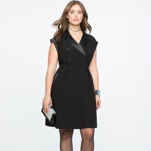 Eloquii Black Double Breasted Tuxedo Dress